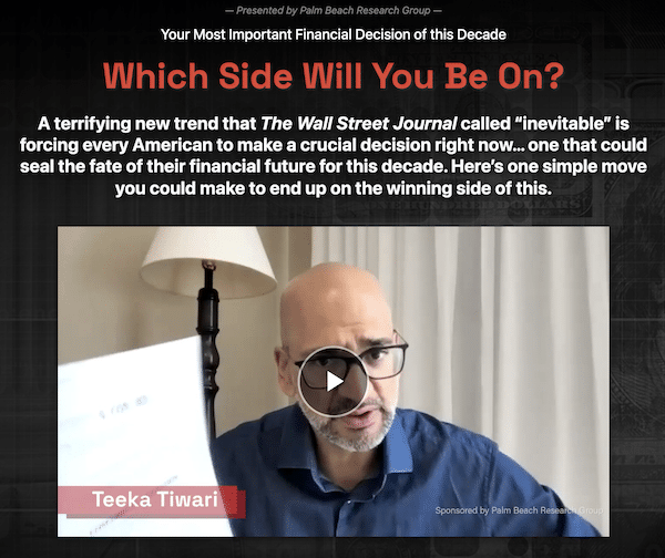 Teeka Tiwari during his Wealth Transfer presentation on inflation.